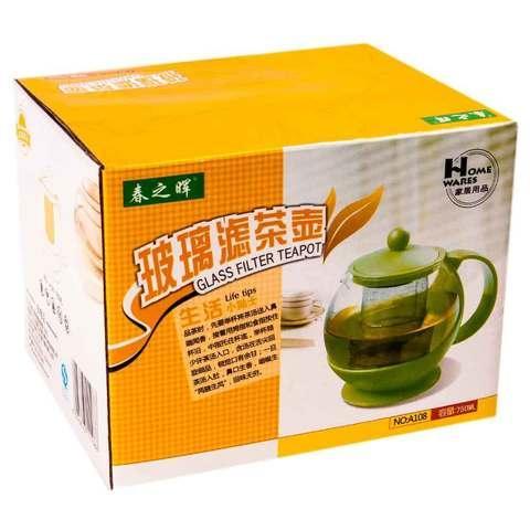 Чайник заварочный с металлическим фильтром «Home wares» [750 мл.]