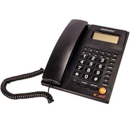 Телефон стационарный с определителем номера ORIENTEL KX-T1588CID (Черный), фото 2