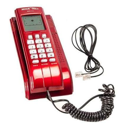 Телефон с определителем номера и LCD-экраном MOCKTEL KXT-111 (Красный), фото 2