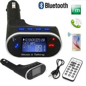 FM-модулятор с функцией MP3-плеера и громкой связи [Bluetooth/USB/SD/AUX/LCD-дисплей]