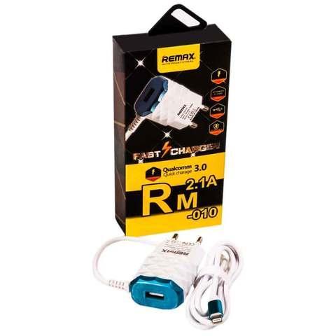 Зарядное устройство сетевое для iPhone 5/6/7 REMAX RM-010 [2,1 A; 100-240 В]