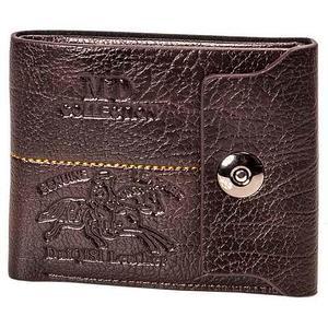 Бумажник двойного сложения «MD collection» с клапаном на магнитном замке