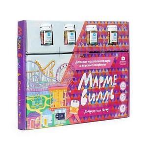 Игра настольная детская «Конфетный город - Мармевилль» с мармеладными конфетами