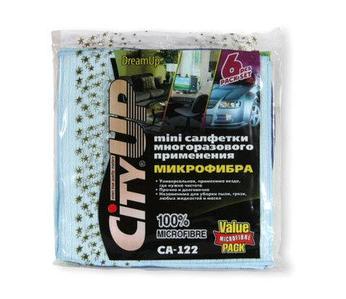 Набор мини-салфеток многоразового применения из микрофибры «City Dream Up» [6 шт.]