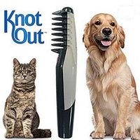 Расчёска электрическая для вычёсывания шерсти домашних животных Knot Out
