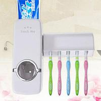 Диспенсер для зубной пасты с держателем для щёток Touch Me ТМ-2000