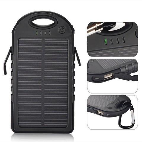 Аккумулятор для зарядки портативный на солнечных батареях LED Light [12000 мАч.]