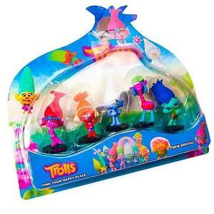 Набор игрушек-героев мультфильма «Тролли» [5 персонажей]