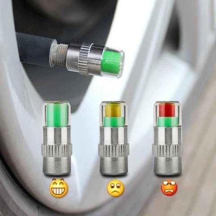 Тестер давления в шинах в виде колпачков-индикаторов Air Alert, фото 2