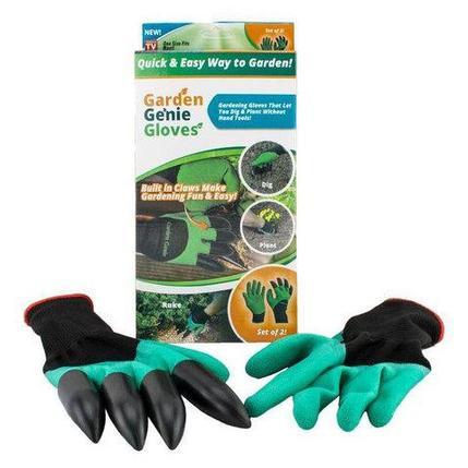 Перчатки садовые с когтями Garden Genie Gloves 4 в 1, фото 2