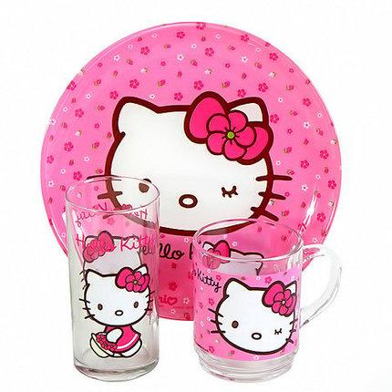 Набор детской посуды Luminarc Hello Kitty H5483 [3 предмета], фото 2