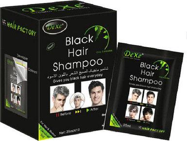 Шампунь тонирующий для седых волос DEXE Black Hair [комплект на 10 применений]