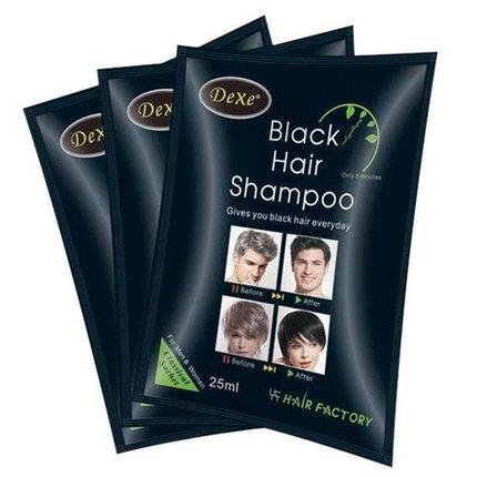 Шампунь тонирующий для седых волос DEXE Black Hair [комплект на 10 применений], фото 2