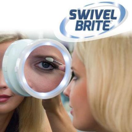 Зеркало с увеличением и подсветкой на вакуумной присоске SWIVEL BRITE, фото 2