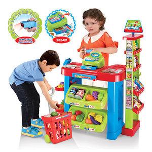 """Игровой набор """"Супермаркет"""" с тележкой, кассой и сканером"""