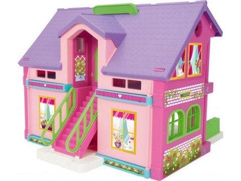 Домик для кукол с мебелью и двумя этажами WADER 25400, фото 2