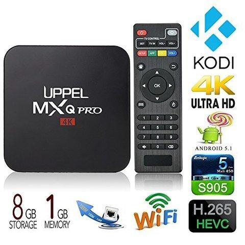 Приставка для телевизора OTT TV BOX 4K ULTRA HD MXQ-4К {Wi-Fi; Android; Quad-Core Cortex A7}