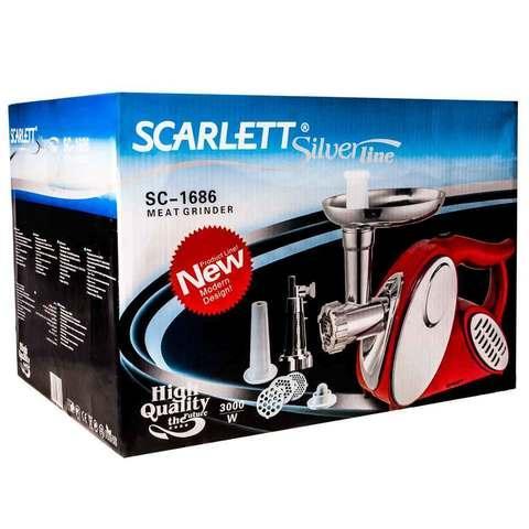 Мясорубка электрическая высокопроизводительная SCARLETT SC-1686 [3000 Вт]