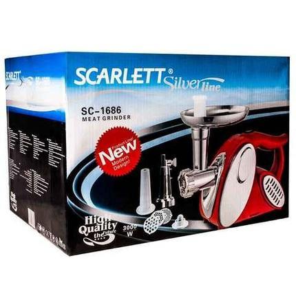 Мясорубка электрическая высокопроизводительная SCARLETT SC-1686 [3000 Вт], фото 2