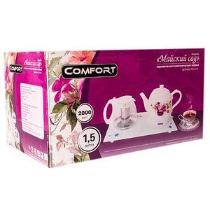 Чайник электрический из керамики  «Майский сад» COMFORT  ТС-813 + заварочный чайник