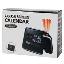 Часы-метеостанция с проектором времени Сolor Screen Calendar 8190, фото 3