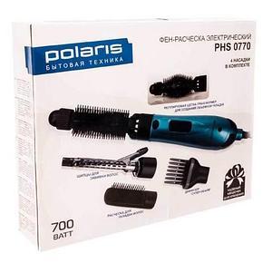 Фен-расчёска электрический с четырьмя насадками POLARIS PHS0770