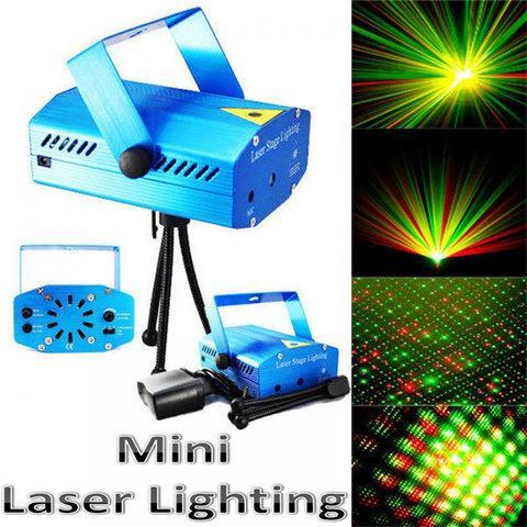 Проектор лазерный Mini Laser Stage Lighting для светомузыки