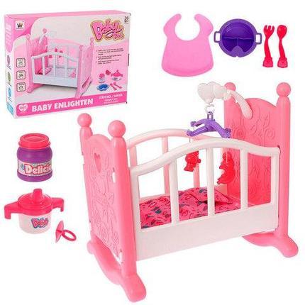 Кровать-колыбель для пупсов BABY born с аксессуарами [W0156], фото 2