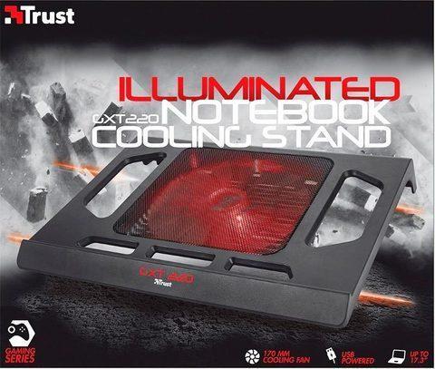 Подставка для ноутбука охлаждающая Trust GXT 220 Notebook Cooling Stand, фото 2