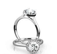Золотое кольцо с центральным Бриллиантом от 0,60Сt, фото 1