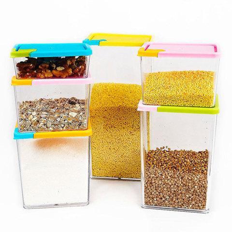 Набор контейнеров для сыпучих продуктов [6 штук]