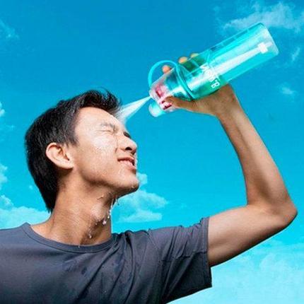 Бутылка для воды спортивная с распылителем New.B, фото 2