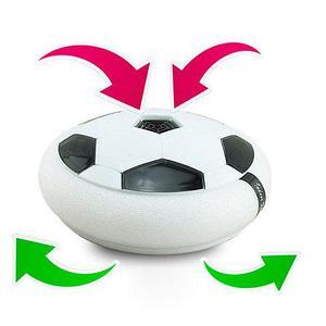 Аэромяч плоский HoverBall с LED-подсветкой для игры в футбол