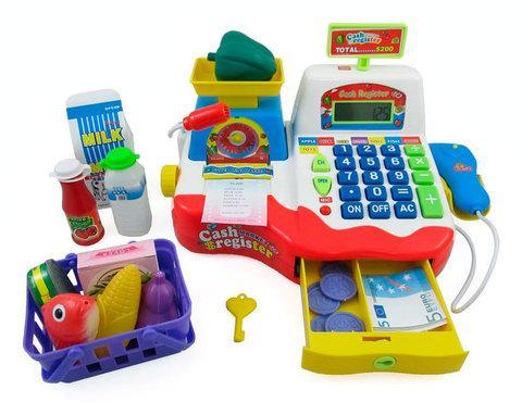 Игровой набор мини-касса Play Smart с калькулятором и микрофоном