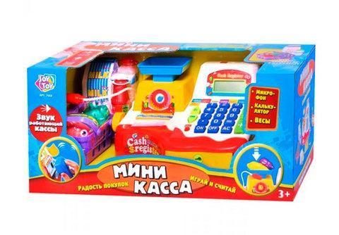 Игровой набор мини-касса Play Smart с калькулятором и микрофоном, фото 2