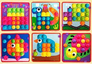 Мозаика для маленьких Button Idea с крупными элементами, фото 3