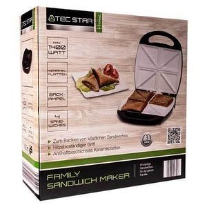 Сэндвичница электрическая на 8 порций TEC STAR MD 16251 [1400 Вт.]