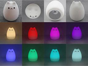Светильник силиконовый «Милый котик» COLORFUL SILICON ANIMAL LIGHT, фото 3