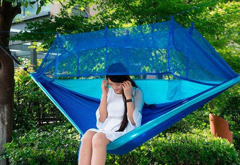 Гамак-палатка двухместный с защитой от насекомых [250х130 см], фото 2