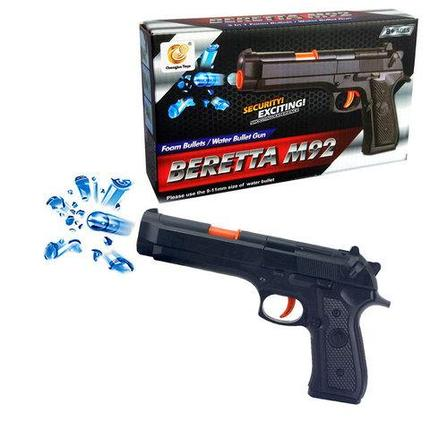 Пистолет игрушечный с пенными и водными пульками орбиз BERETTA M92 Chengjun Toys, фото 2