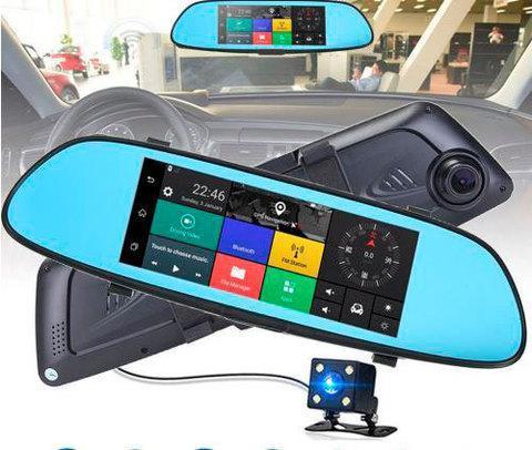 """Зеркало-видеорегистратор с камерой заднего вида Vehicle Blackbox DVR Q9X Q9L [Full HD 1080, экран 7""""], фото 2"""