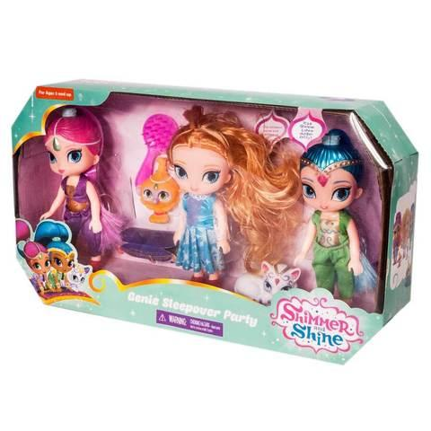 Набор кукол «Shimmer and Shine» Genie Sleepover Party