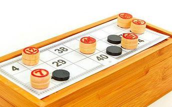Игра настольная «Русское лото» в деревянном футляре, фото 3