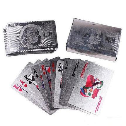 Карты игральные пластиковые Perfecto «Серебряный доллар» [54 шт], фото 2