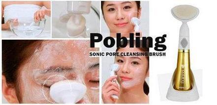 Щетка ультразвуковая для лица POBLING SONIC PORE CLEANSING BRUSH, фото 3