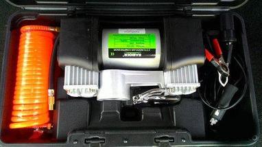 Компрессор двухцилиндровый для подкачки шин RAIBOER RBE-205JH, фото 3