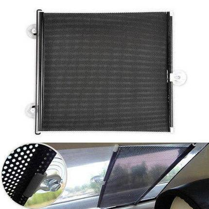 Шторка-ролет солнцезащитная на присосках для автомобиля, фото 2