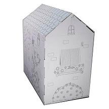 Домик-раскраска картонный с карандашами, фото 2