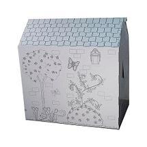 Домик-раскраска картонный с карандашами, фото 3
