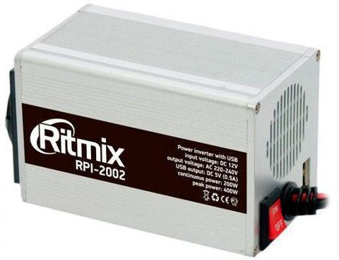 Инвертор автомобильный RITMIX RPI-2002 USB, фото 2